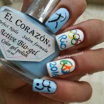 Olympicnails: Esmalte azul cielo