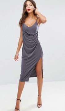 Un vestido gris muy sensual de ASOS para una boda en septiembre