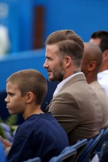 Romeo Beckham, compartiendo aficiones con papá