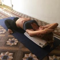 El descanso de Vanesa Lorenzo en yoga