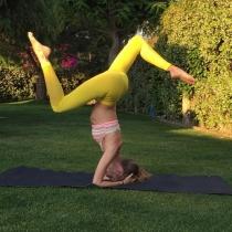 Vanesa Lorenzo, yoga al aire libre