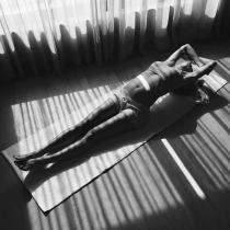 Vanesa Lorenzo, siempre con el yoga