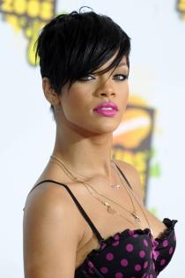 Los labios en rosa de Rihanna