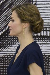 Peinados reina Letizia: un moño con trenzas