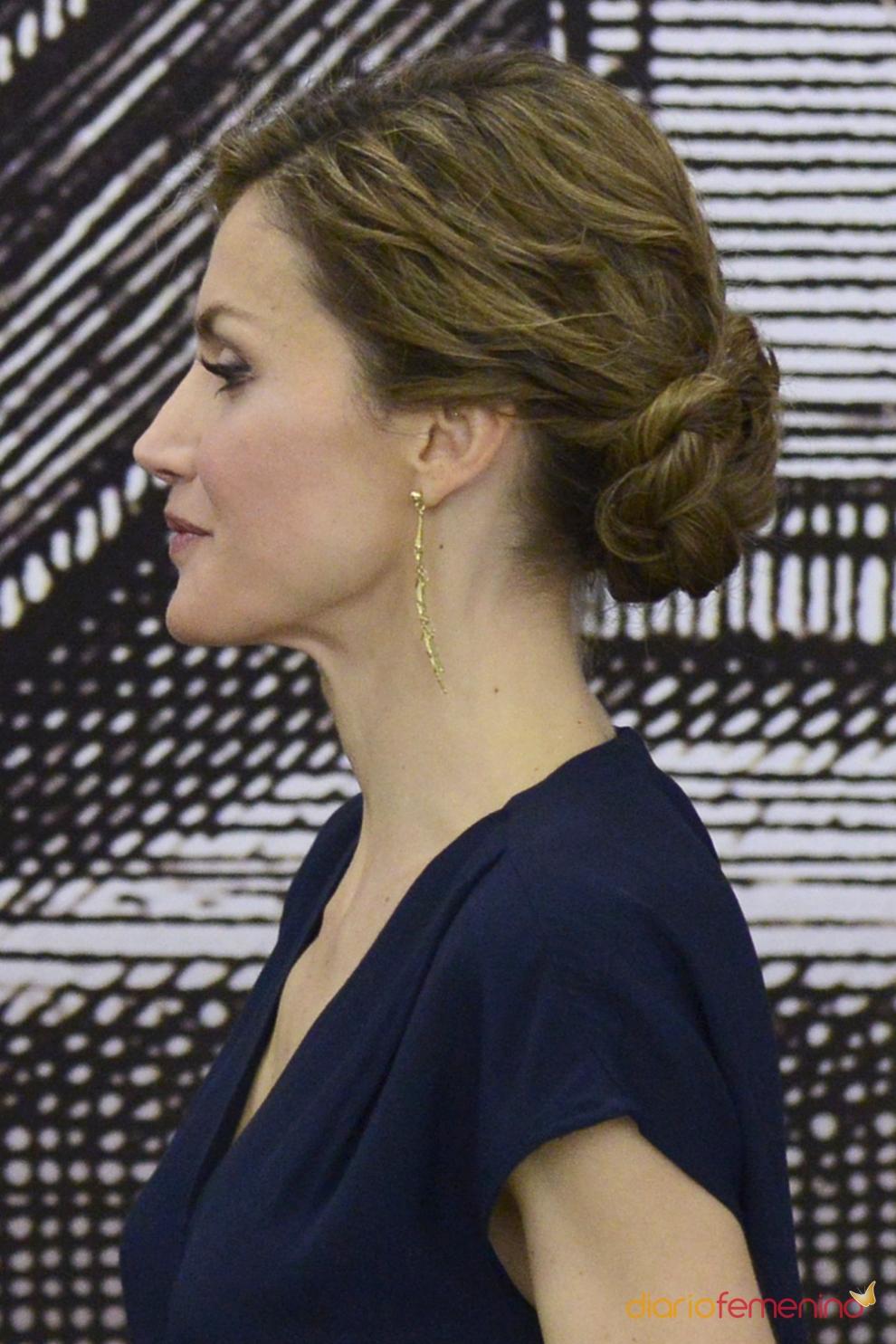 stunning amazing peinados reina letizia un moo con trenzas with peinado moo con trenza with trenzas con moo - Moos Con Trenzas