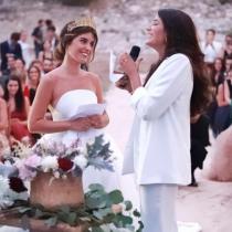 Alba Paul y Aida Domenech el día de su boda