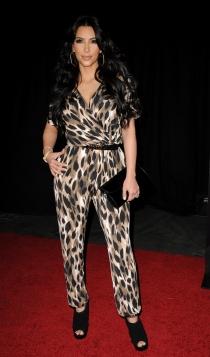 El mono de leopardo de Kim Kardashian, algo para olvidar
