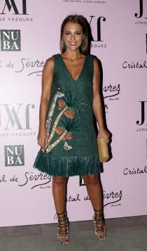 Paula Echevarría, guapísima de verde