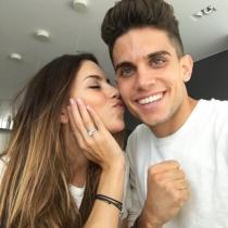 Anillos de compromiso: el amor de Melissa Jiménez y Marc Bartra