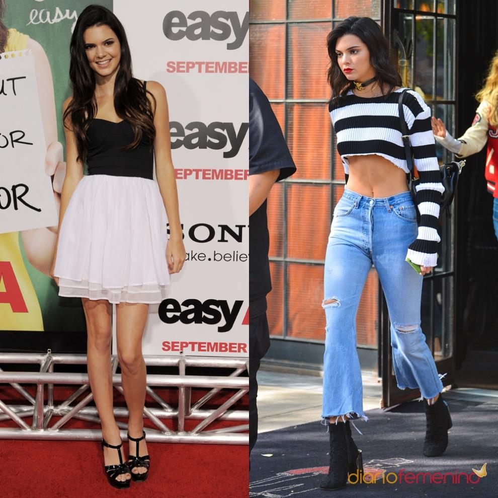 El antes y el después de Kendall Jenner Christina Aguilera Google