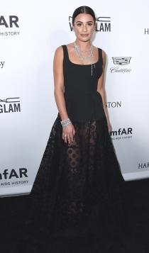 Lea Michele, radiante de negro