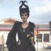 Jessica Bueno, disfrazada de Maléfica en Halloween
