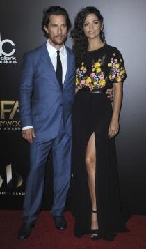 Hollywood Film Awards 2016: Matthew McConaughey y Camila Alves
