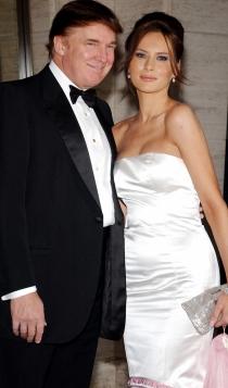 Melania y Donald Trump, de punta en blanco