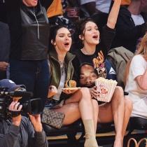 Famosas en la NBA: Bella Hadid y Kendall Jenner