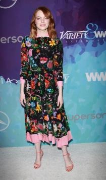 Emma Stone, todo a las flores