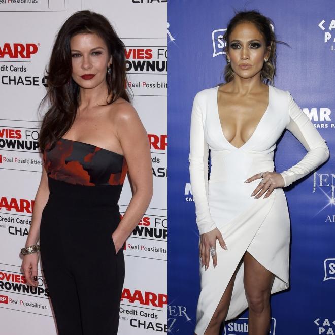 Famosos con la misma edad: Catherine Zeta Jones y Jennifer Lopez