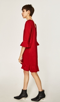 Un vestido rojo de ZARA para recibir a 2017