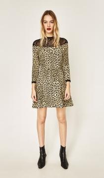El vestido de leopardo que desearás tener en nochevieja
