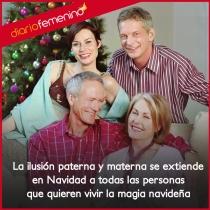 Los padres en Navidad, una familia unida para siempre