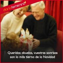 La sonrisa de un abuelo en Navidad, lo más bello de la familia