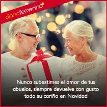 El cariño y el amor de tus abuelos, una Navidad tierna y bonita