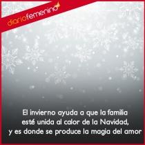 Invierno y Navidad en las mágicas frases de amor