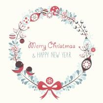Feliz Navidad y próspero año nuevo con tarjetas navideñas