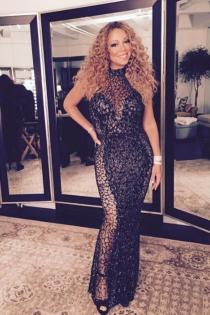 El look más sofisticado de Mariah Carey en Navidad