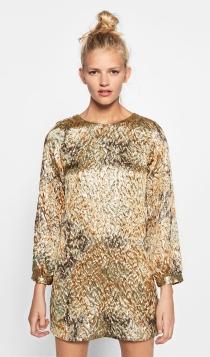 Vestidos de invitada para 2017: una opción dorada de ZARA