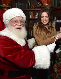 Famosos que adoran a Santa Claus: Khloé Kardashian