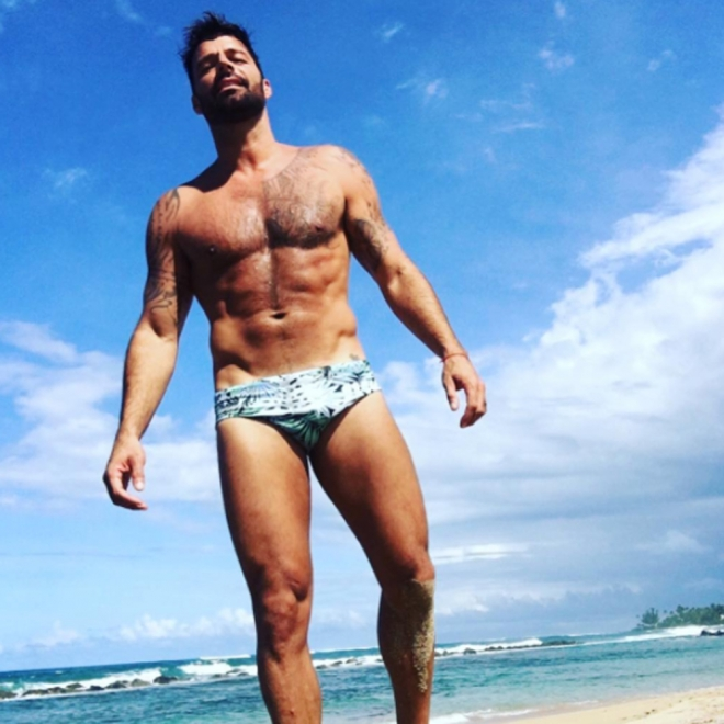 Ricky Martin, ¡uf qué calor!