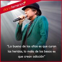 Frases de canciones de Joaquín Sabina: lo malo de los besos es...