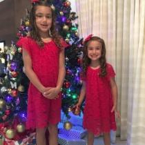 Las hijas de Adriana Lima en Navidad