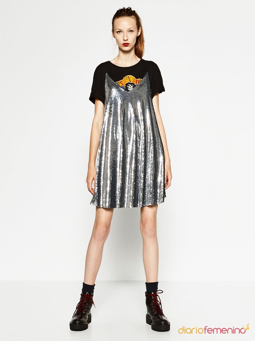 Un vestido plateado de zara para estar guapa y divina - Que hacer para estar guapa ...