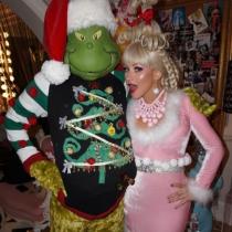 Las navidades de disfraces de Christina Aguilera