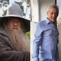 Cambio La comunidad del anillo: Gandalf y Ian McKellen