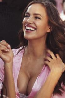 Los labios de Irina Shayk en el desfile de Victoria's Secret