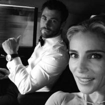 Elsa Pataky y Chris Hemsworth, llegando a los Globos de Oro 2017