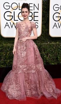 Globos de Oro 2017: Lily Collins