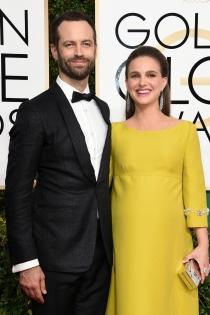 Parejas en los Globos de Oro 2017: Natalie Portman y su marido