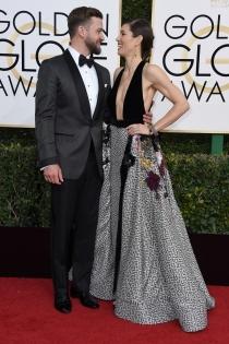 Parejas en los Globos de Oro 2017: Jessica Biel y Justin Timberleake