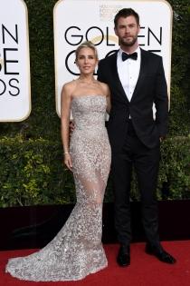 Parejas en los Globos de Oro 2017: Elsa Pataky y Chris Hemsworth