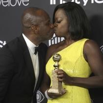 Globos de Oro 2017: Viola Davis, muy feliz