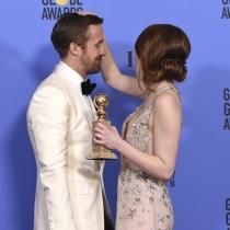 Globos de Oro 2017: Emma Stone y Ryan Gosling, grandes amigos