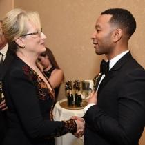 Globos de Oro en Instagram: John Legend conoce a Meryl Streep