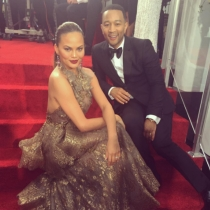 Globos de Oro en Instagram: Chrissy Teigen y John Legend, la pareja de la noche