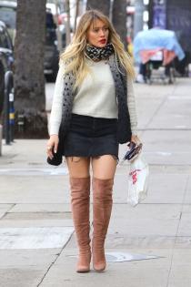 Hilary Duff, pasión por las botas altas