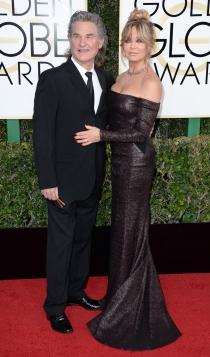 Goldie Hawn y Kurt Russell en los Globos de Oro 2017