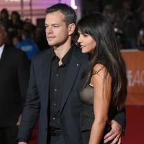 Matt Damon y Luciana Barroso, pareja de guapos